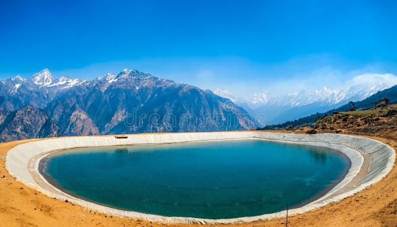 Himalayan artificial lake royalty free stock photography