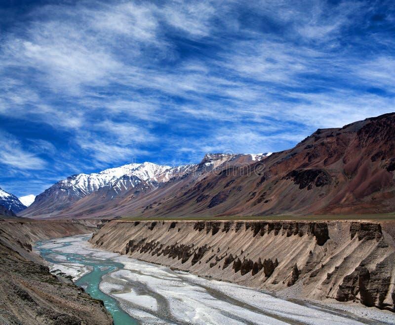 Himalayan berglandskap i Ladakh, Indien royaltyfria foton