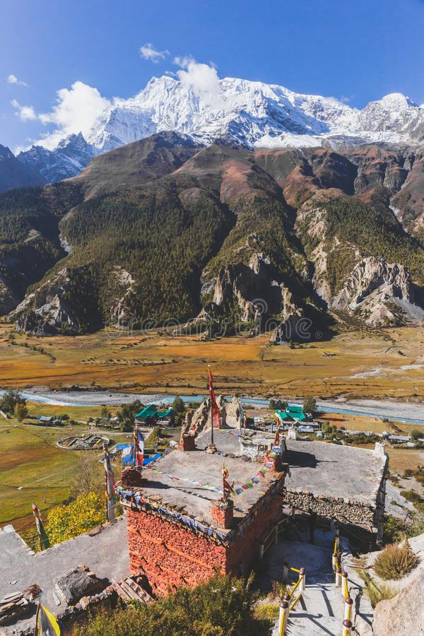 Himalayan Castle Tower. stock images