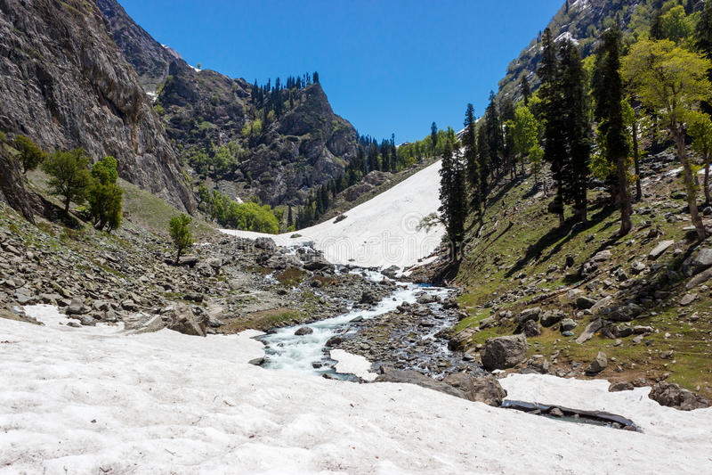 Himalayan glacier, Jammu and Kashmir stock images