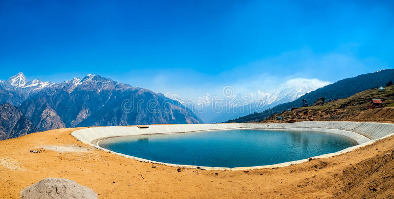 Himalayan lake royalty free stock photography