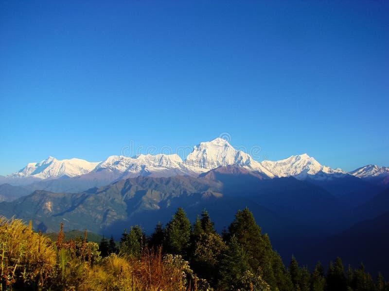Himalayan landscape with beautiful mountain scene. stock photos