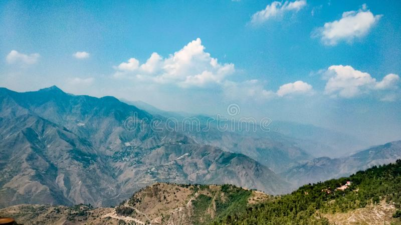 Himalayan mountain range in Mussoorie stock photos