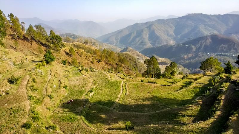 Himalayan mountain range in Mussoorie royalty free stock photo