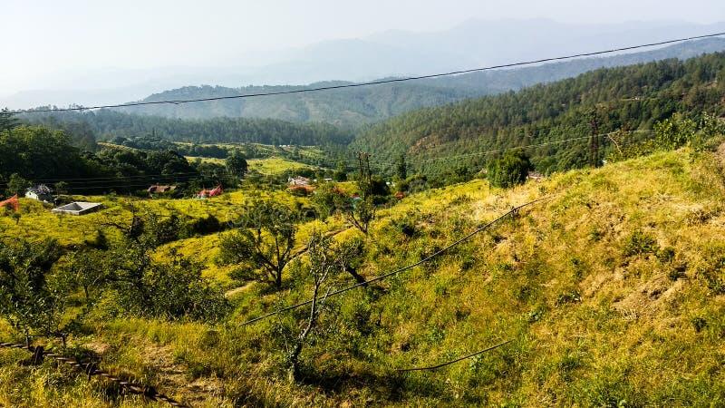 Himalayan mountain range in Mussoorie royalty free stock photos