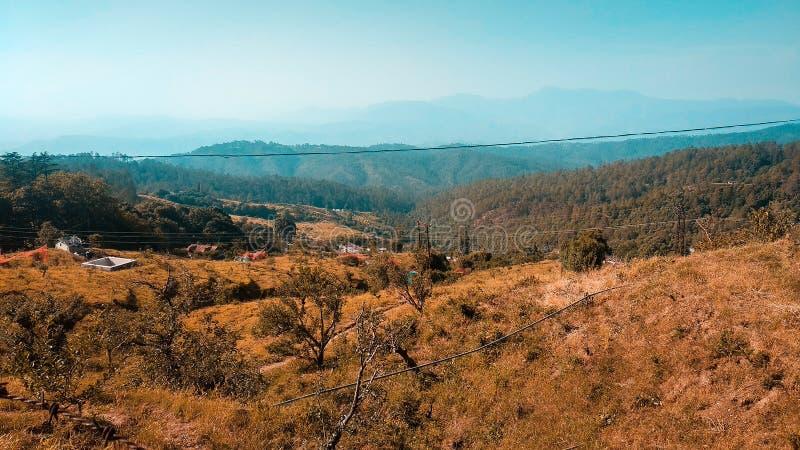Himalayan mountain range in Mussoorie stock image