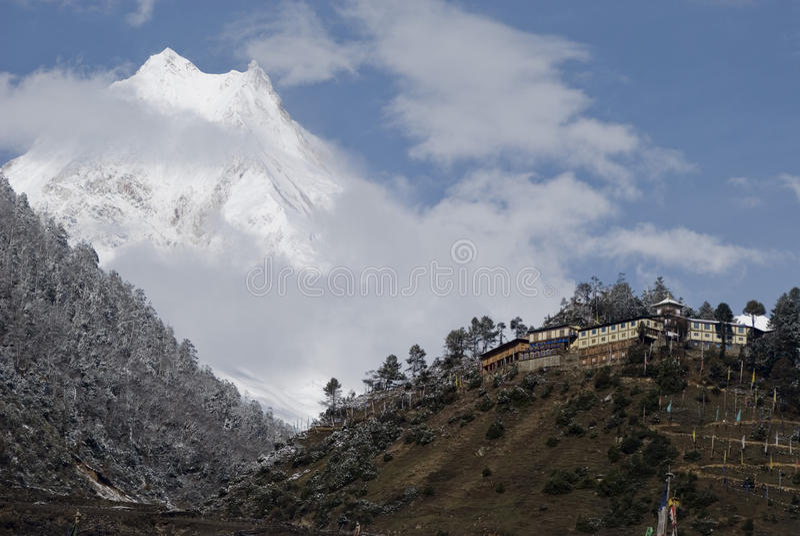 Himalayan Nationaal Park Manaslu Nepal royalty-vrije stock afbeeldingen