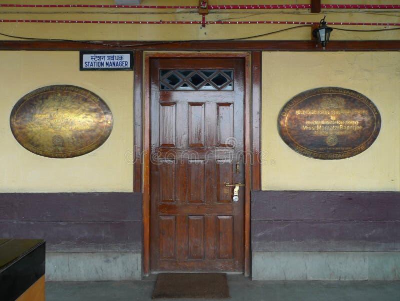 Himalayan Railway HQ - Darjeeling (India, Asia). Headquarters from the Darjeeling Himalayan Railway (Darjeeling, India, Asia royalty free stock images