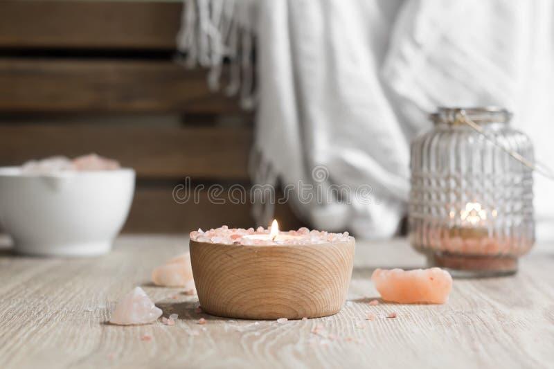 Himalayan Salt Spa Therapie stock fotografie