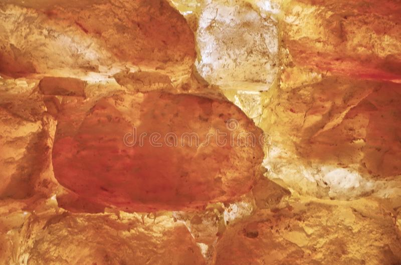Himalayan salt stenvägg royaltyfria bilder