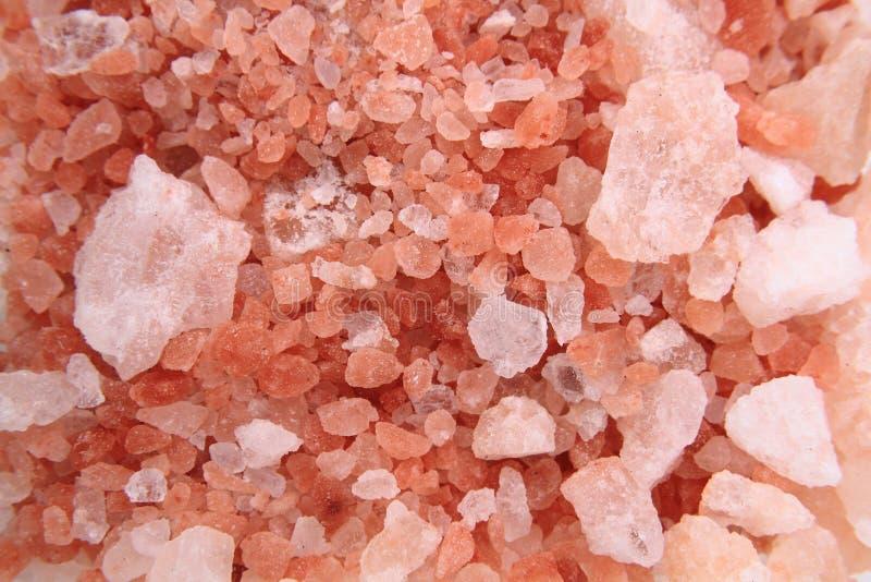 Himalayan salt texture stock photo