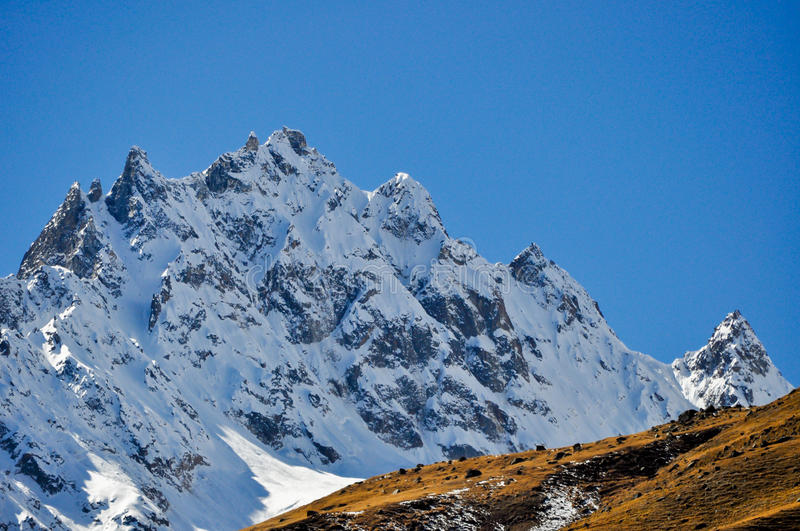 Himalayan small peaks royalty free stock photography