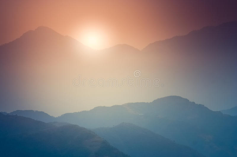 Himalayan sunrise royalty free stock images