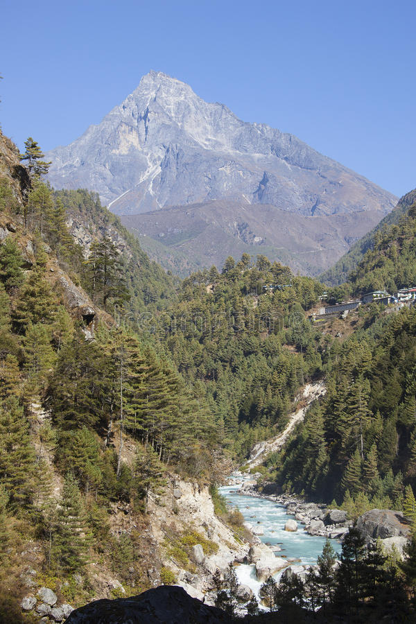 Himalayan valley royalty free stock image