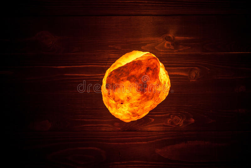 Himalayan zoute lamp royalty-vrije stock foto