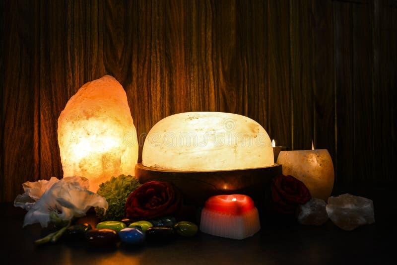 Himalayan Zoute Lampen | Natuurlijk & Voet Detoxer royalty-vrije stock foto