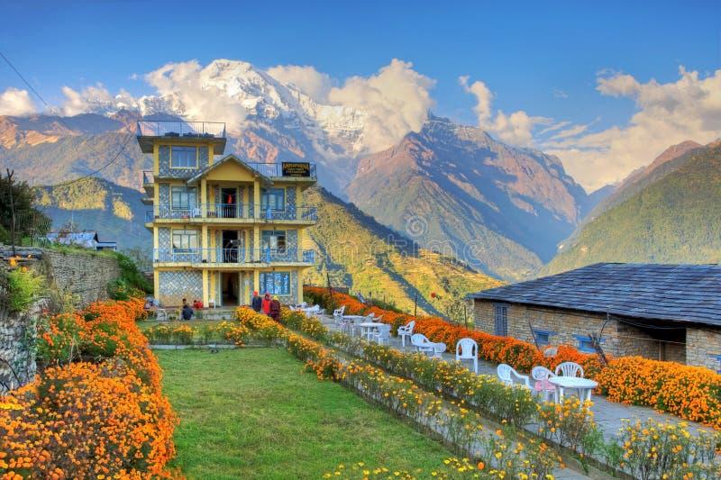 himalayans mieścą Nepal obraz royalty free
