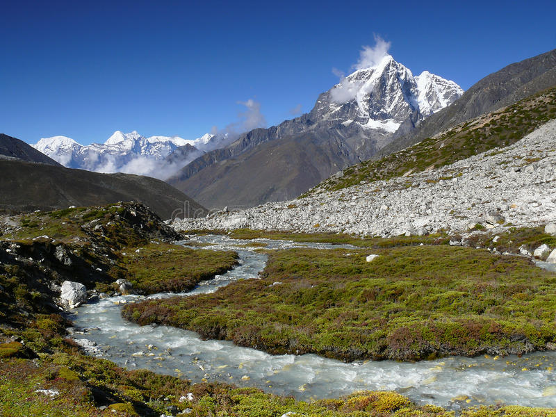 Himalaya Mountains Landscape Nepal royalty free stock photos