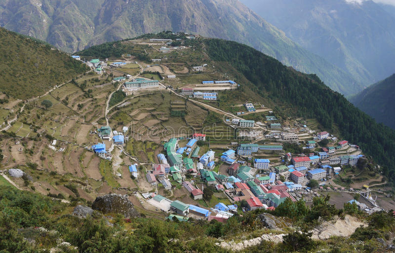 Download Himalayas stock photo. Image of colors, namche, asia - 22616776