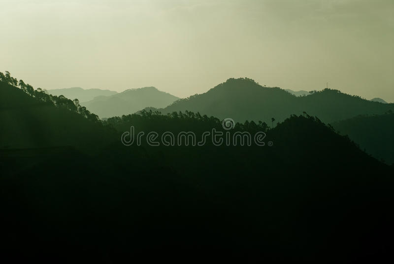 Himalayas. The Himalayan mountain range near Ranikhet in Uttrakhand, India royalty free stock images