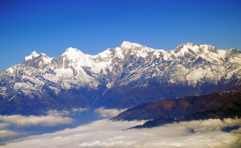 Himalayas aéreos imagem de stock royalty free