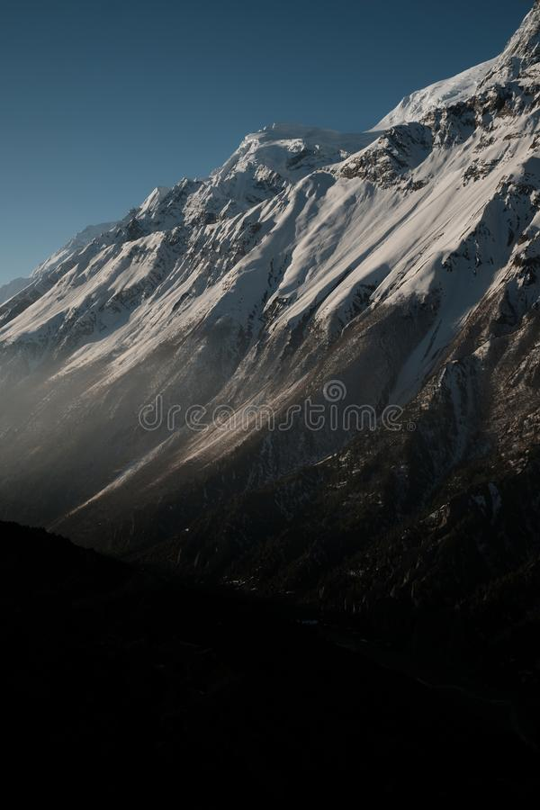 Morning light in Nepal. Himalayas calm atmosphere stock image