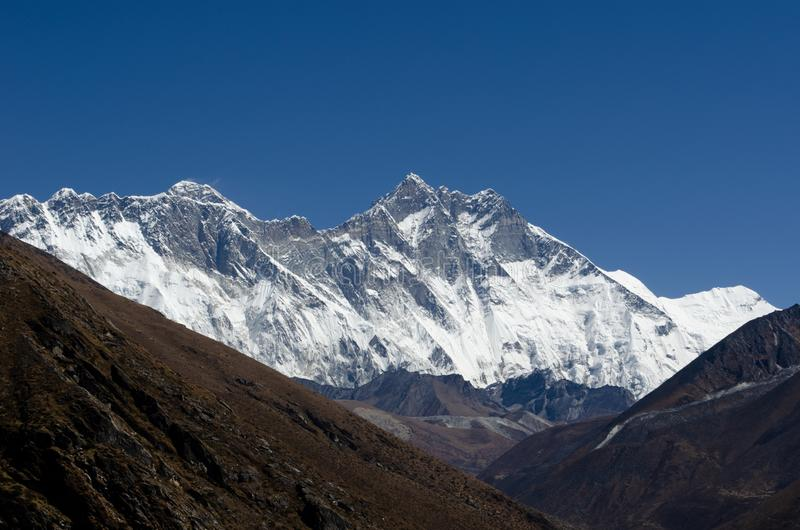 Himalayas Lhotse Everest arkivbild