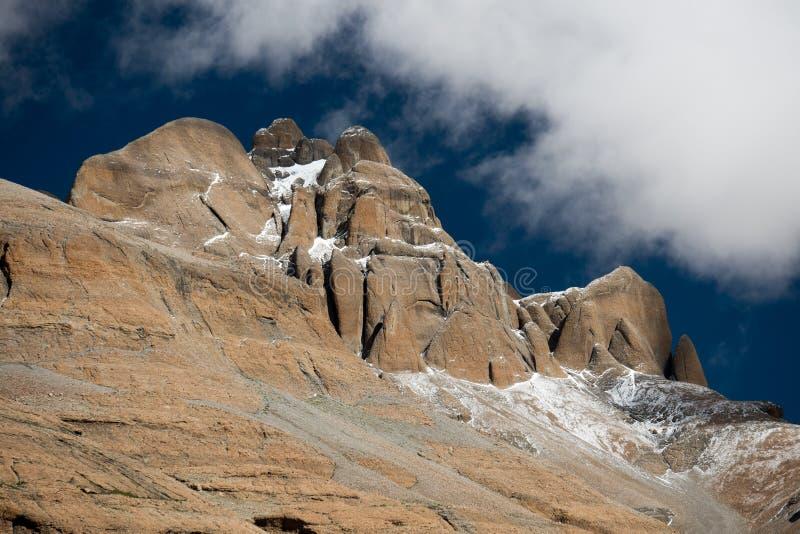 Himalayas mountain Tibet sky and clouds. Kailash Yantra.lv 2016 TIBET Himalayas mountain stock photo