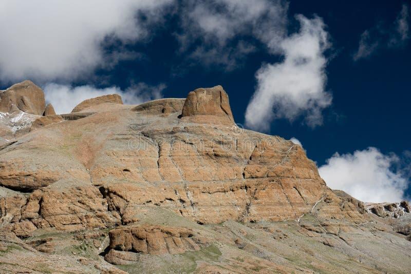 Himalayas mountain Tibet sky and clouds. Kailash Yantra.lv 2016 TIBET Himalayas mountain royalty free stock photo