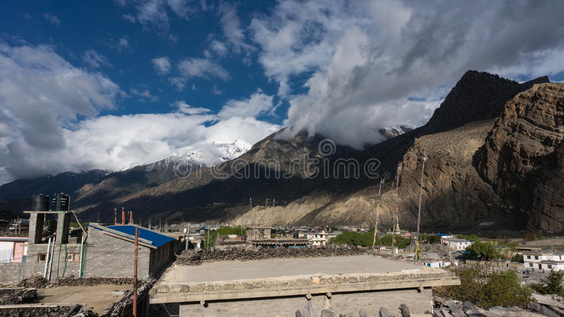 Himalayas mountains. Landscape with sky and clounds royalty free stock image