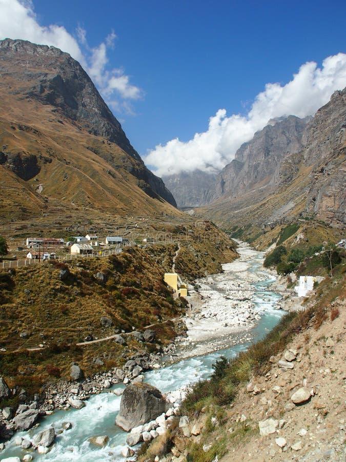 Himalayas sacrais Badrinath fotos de stock royalty free