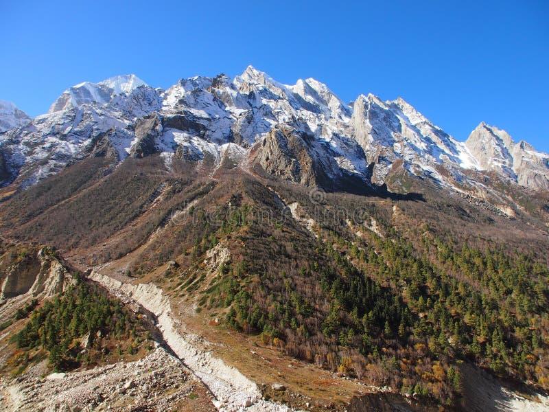 Himalayas sacrais Gangotri foto de stock royalty free