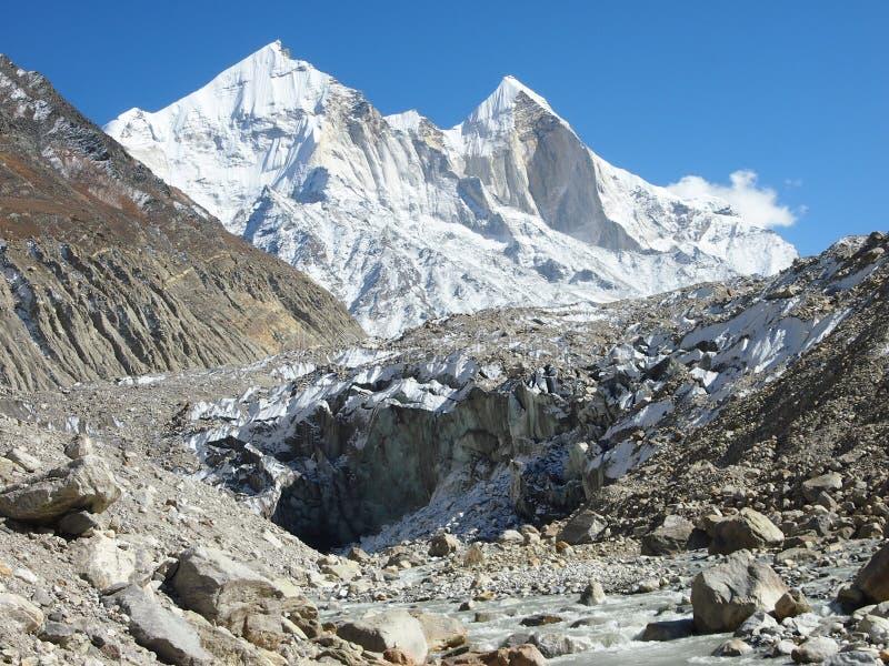 Himalayas sacrais Gangotri fotos de stock