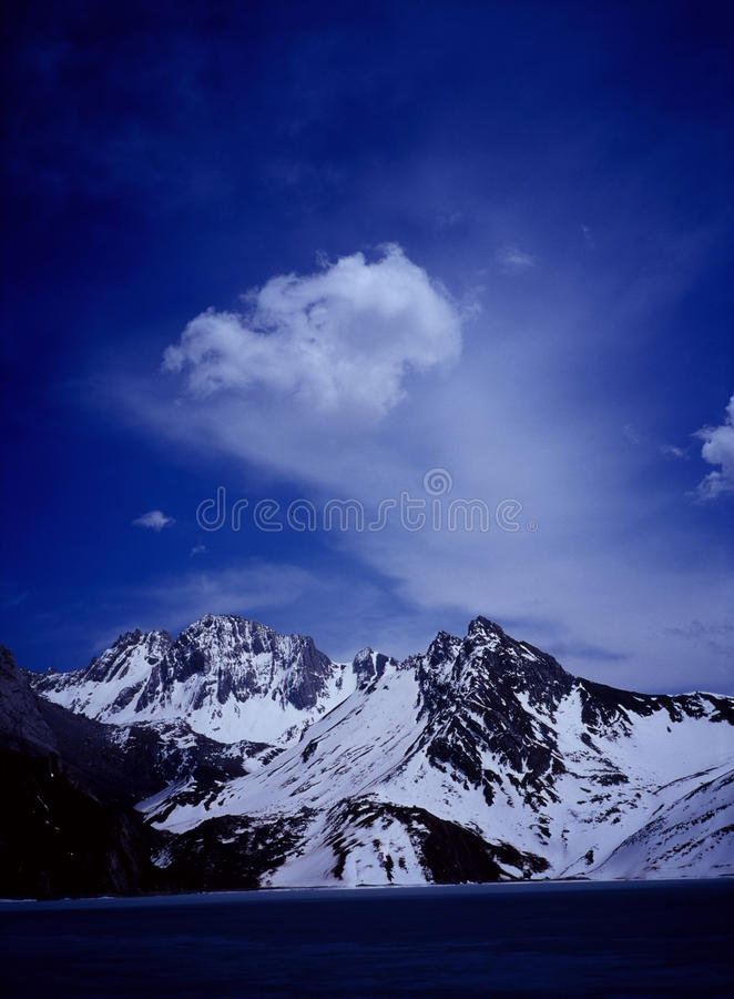 Himalchuli with clouds royalty free stock photos