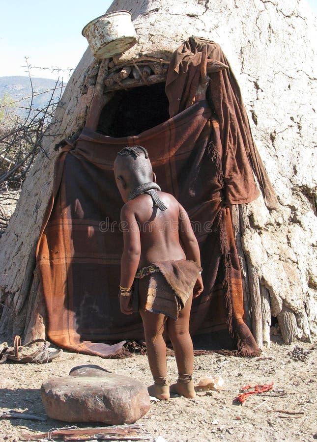 himba παιδιών στοκ φωτογραφίες