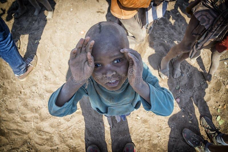 Himba barn fotografering för bildbyråer