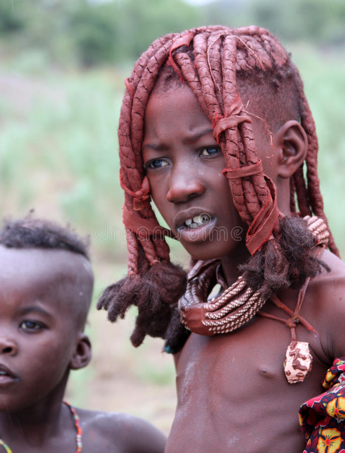 Himba children stock images