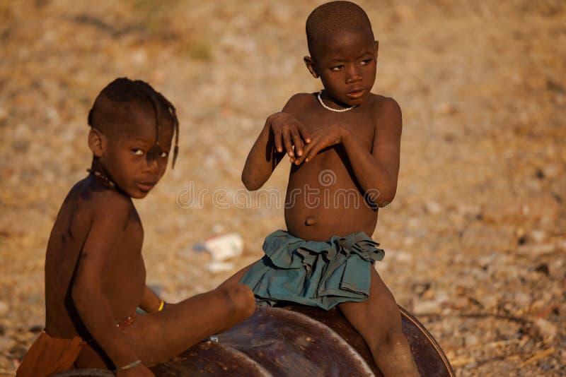 Download Himba children editorial photo. Image of kaokoveld, namibia - 28604981
