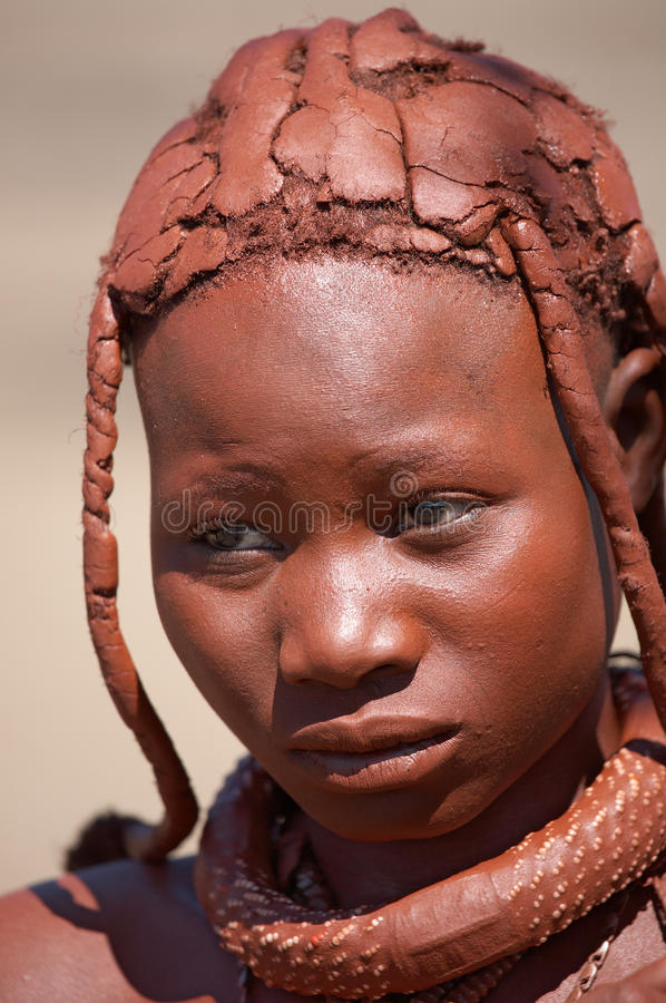 Himba girl in Namibia royalty free stock image