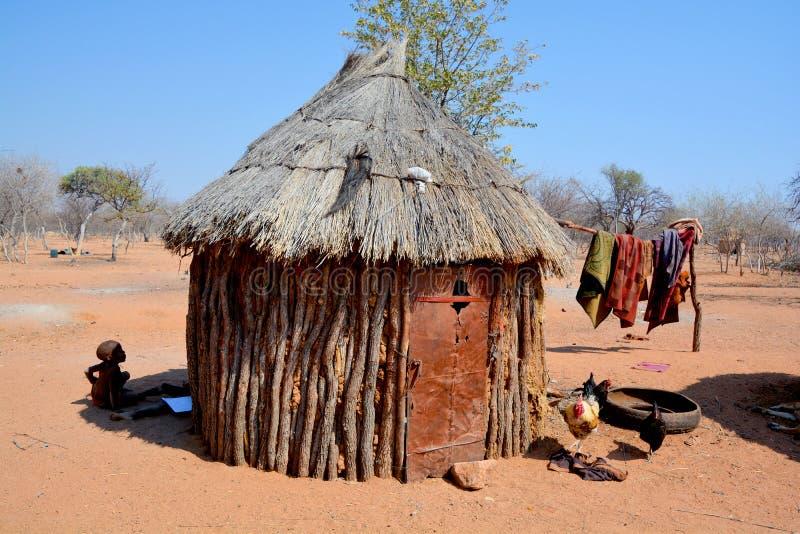 Himba plemienia wioska obrazy royalty free