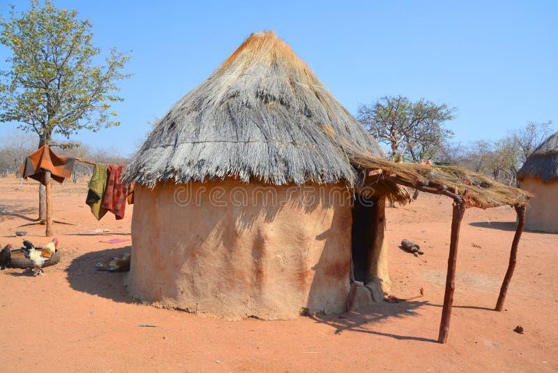 Himba plemienia wioska fotografia stock