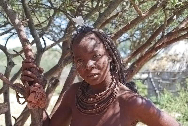 Himba woman. Native african peolple stock photo