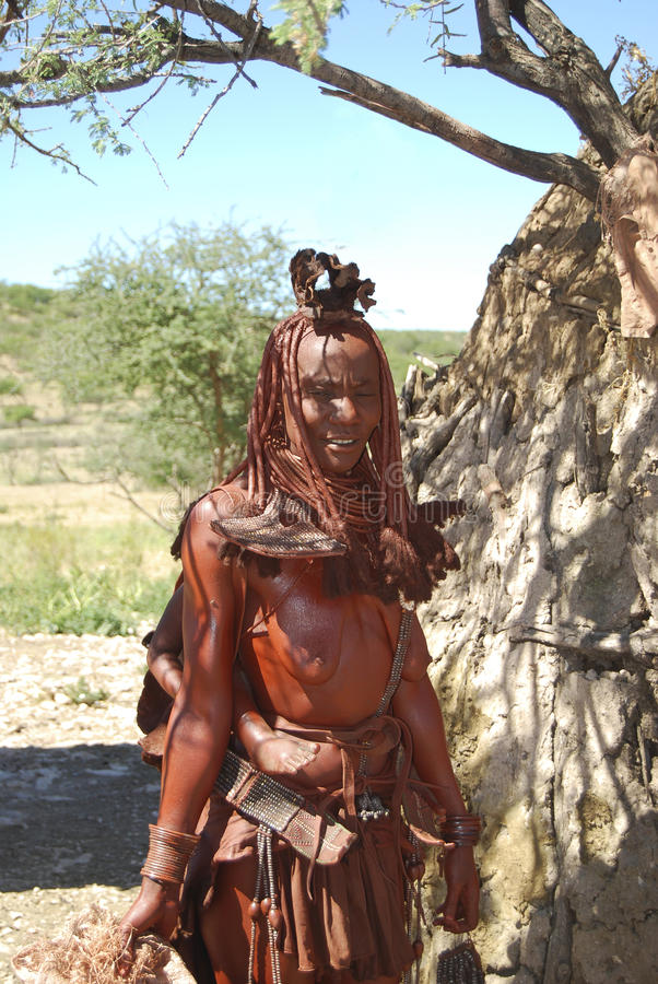 Himba woman. Native african peolple royalty free stock images