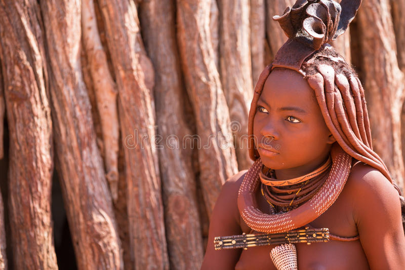 Himbavrouw stock foto's
