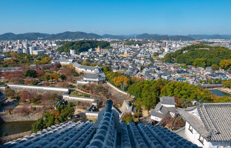 Himeji Castle park in Himeji, Hyogo, Japan. Himeji Castle park in Himeji, Hyogo Prefecture, Japan stock image
