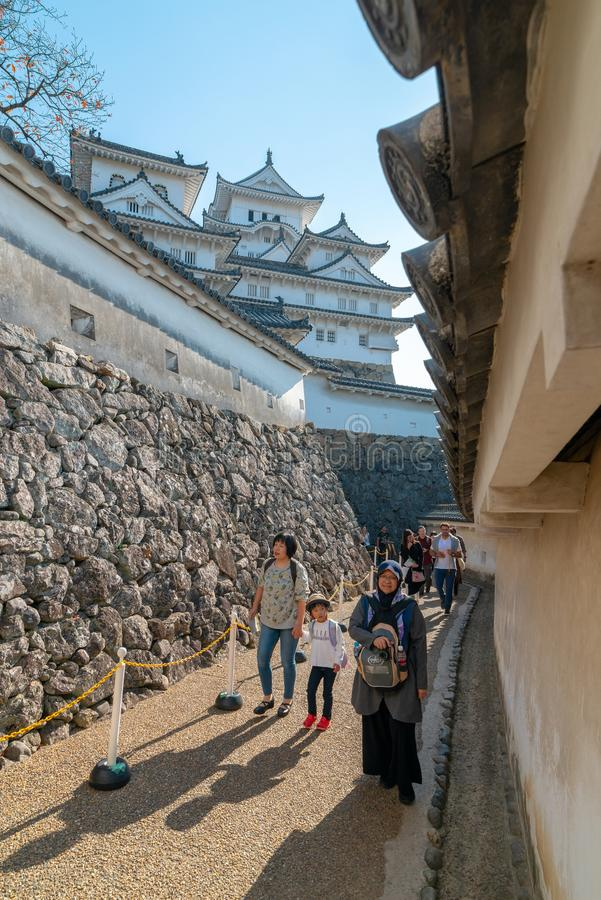 HIMEJI, HYOGO PREFECTURE-NOVEMBER 10, 2018 : Local and foreign t stock photos