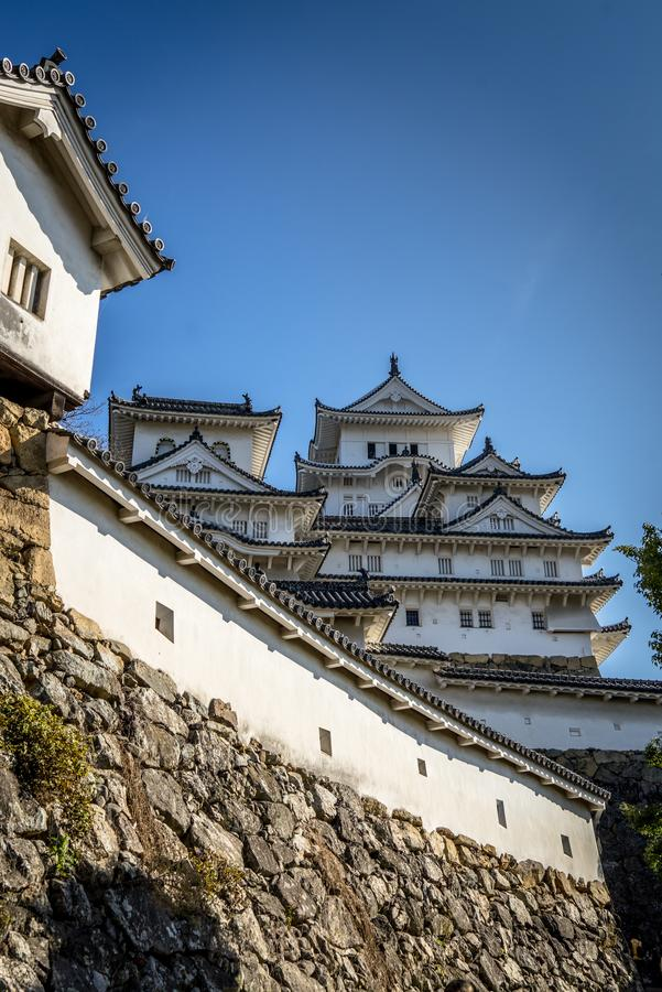 Himeji kasztel w Japonia UNESCO fotografia stock