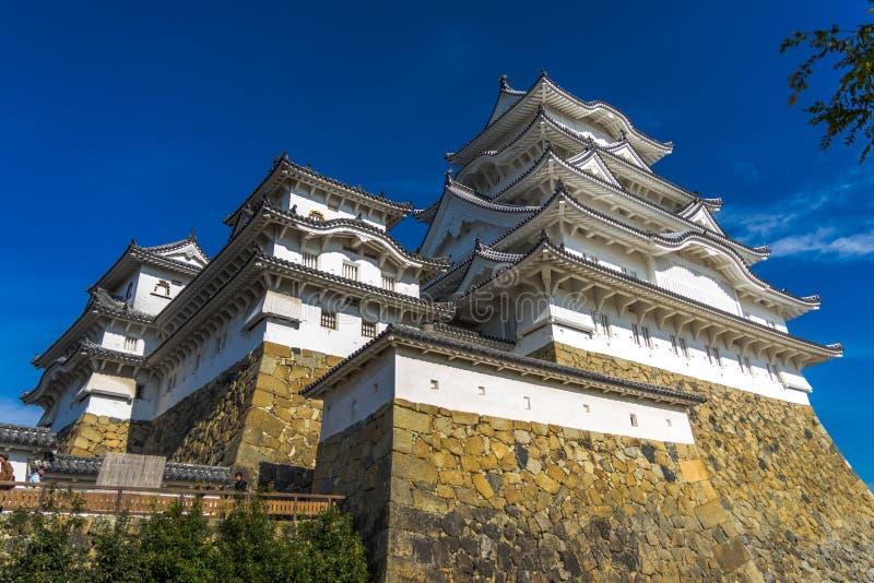 Himeji kasztel w Japonia UNESCO fotografia royalty free