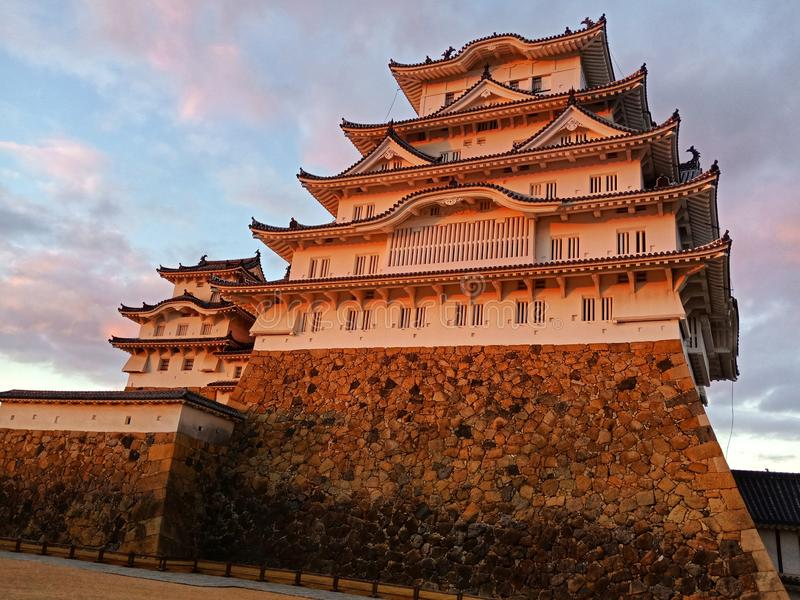 Himeji-Schloss lizenzfreie stockfotografie