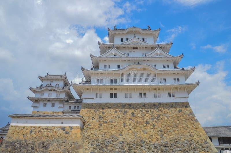 Himeji-Schloss Japan in der Farbe stockbild